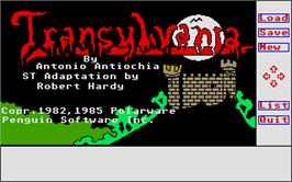 Title screen of Transylvania on the Atari ST.