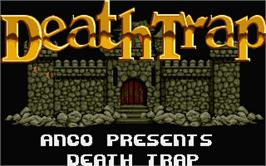 Title screen of Treasure Trap on the Atari ST.