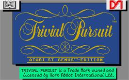 Title screen of Trivial Pursuit: A New Beginning on the Atari ST.
