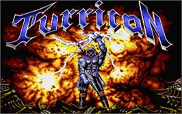 Title screen of Turrican on the Atari ST.