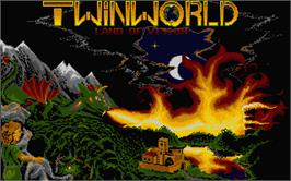 Title screen of TwinWorld: Land of Vision on the Atari ST.