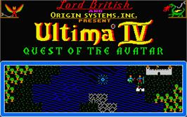 Title screen of Ultima IV: Quest of the Avatar on the Atari ST.