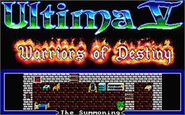 Title screen of Ultima V: Warriors of Destiny on the Atari ST.