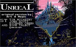 Title screen of Unreal on the Atari ST.