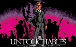Title screen of Untouchables on the Atari ST.