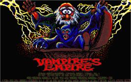 Title screen of Vampire's Empire on the Atari ST.