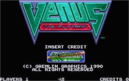 Title screen of Venus the Flytrap on the Atari ST.
