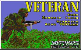 Title screen of Veteran on the Atari ST.