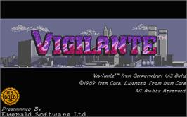 Title screen of Vigilante on the Atari ST.