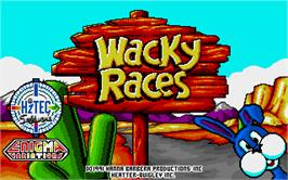 Title screen of Wacky Races on the Atari ST.
