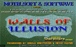 Title screen of Walls of Illusion on the Atari ST.