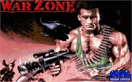 Title screen of War Zone on the Atari ST.