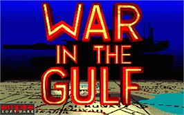 Title screen of War in the Gulf on the Atari ST.