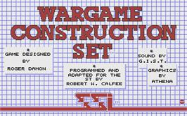 Title screen of Wargame Construction Set on the Atari ST.
