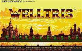 Title screen of Welltris on the Atari ST.
