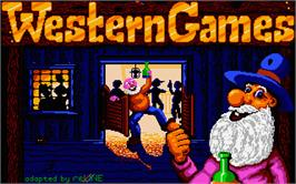 Title screen of Western Games on the Atari ST.