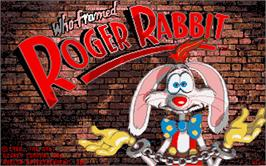 Title screen of Who Framed Roger Rabbit? on the Atari ST.
