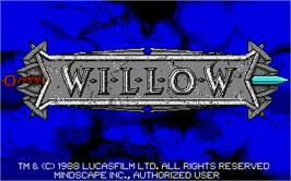 Title screen of Willow on the Atari ST.