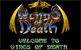 Title screen of Wings of Death on the Atari ST.