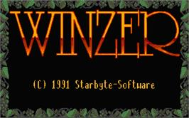Title screen of Winzer on the Atari ST.