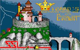 Title screen of Wizard's Crown on the Atari ST.