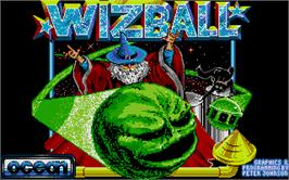 Title screen of Wizball on the Atari ST.