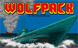 Title screen of WolfPack on the Atari ST.