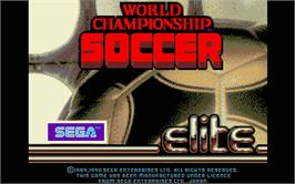 Title screen of World Championship Soccer on the Atari ST.