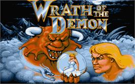Title screen of Wrath of the Demon on the Atari ST.