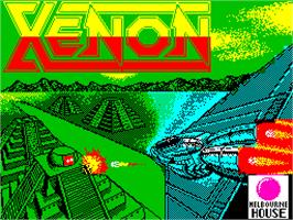 Title screen of Xenon on the Atari ST.