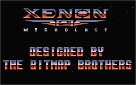 Title screen of Xenon 2: Megablast on the Atari ST.