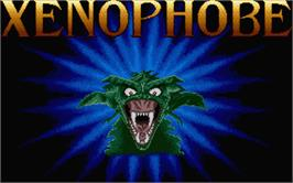 Title screen of Xenophobe on the Atari ST.