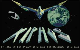 Title screen of Xiphos on the Atari ST.