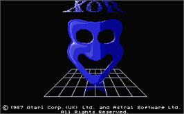 Title screen of Xor on the Atari ST.