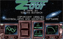 Title screen of Z-Out on the Atari ST.