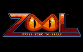 Title screen of Zool on the Atari ST.