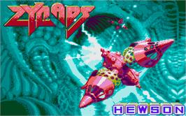 Title screen of Zynaps on the Atari ST.