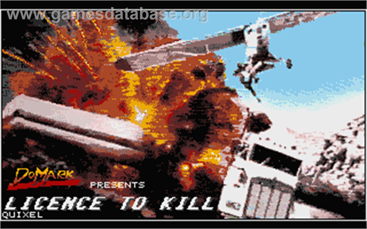 Title screen of 007: Licence to Kill on the Atari ST.