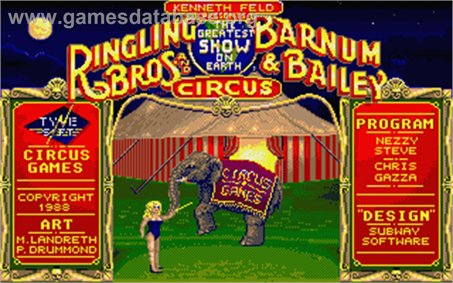 Circus Games - Atari ST - Artwork - Title Screen