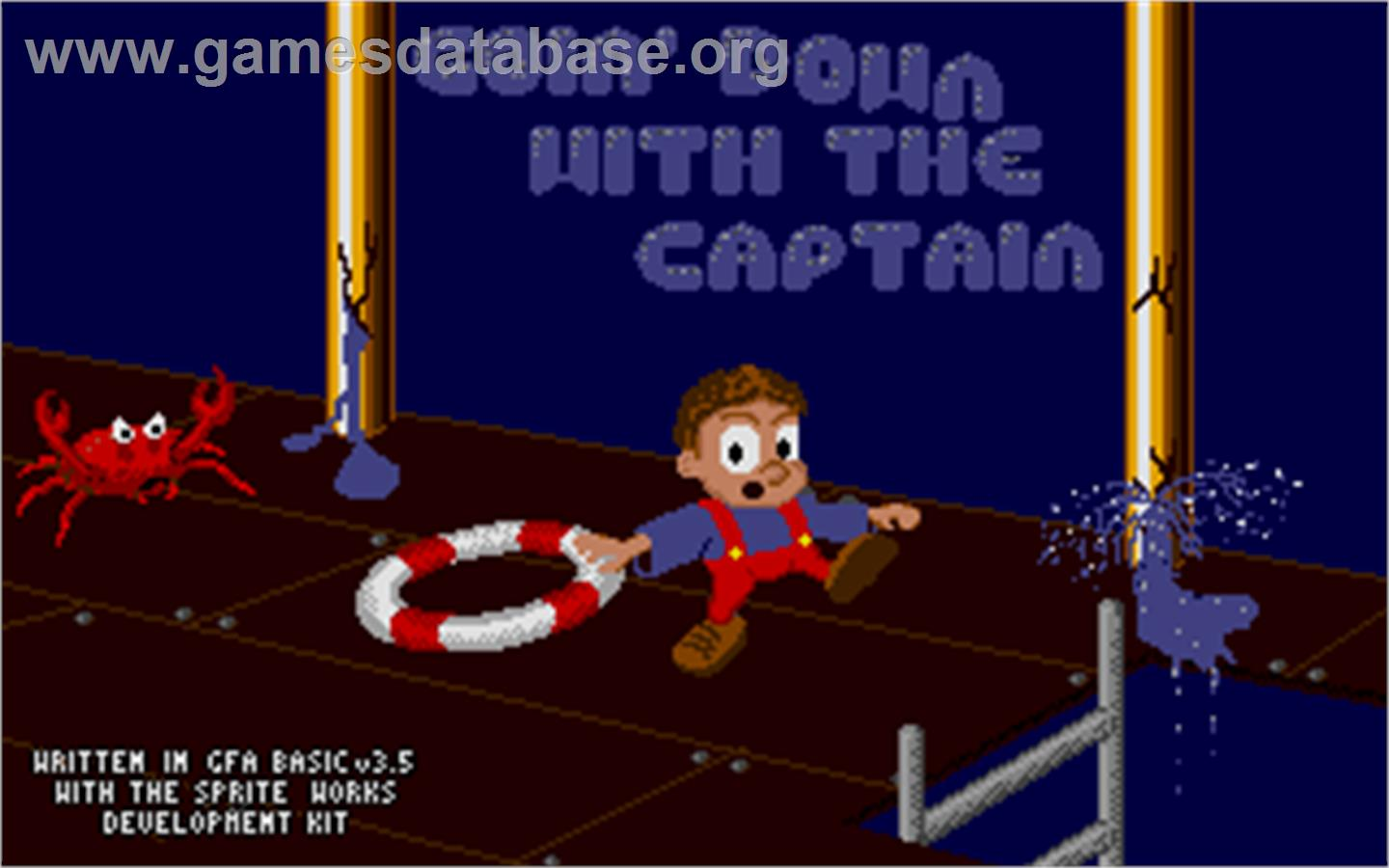 Goin' Down with the Captain - Atari ST - Artwork - Title Screen