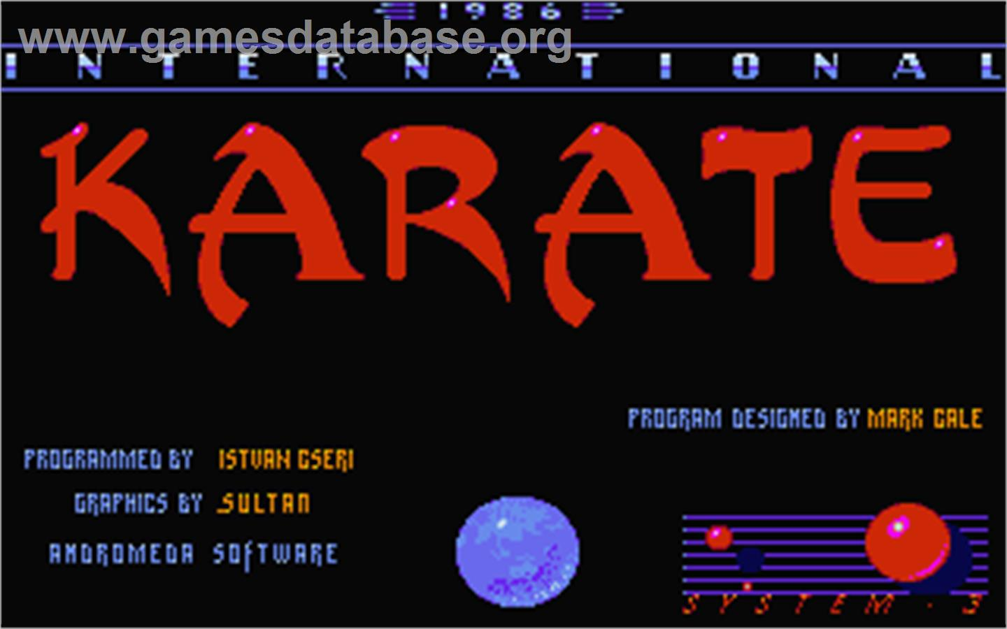 International Karate - Atari ST - Artwork - Title Screen