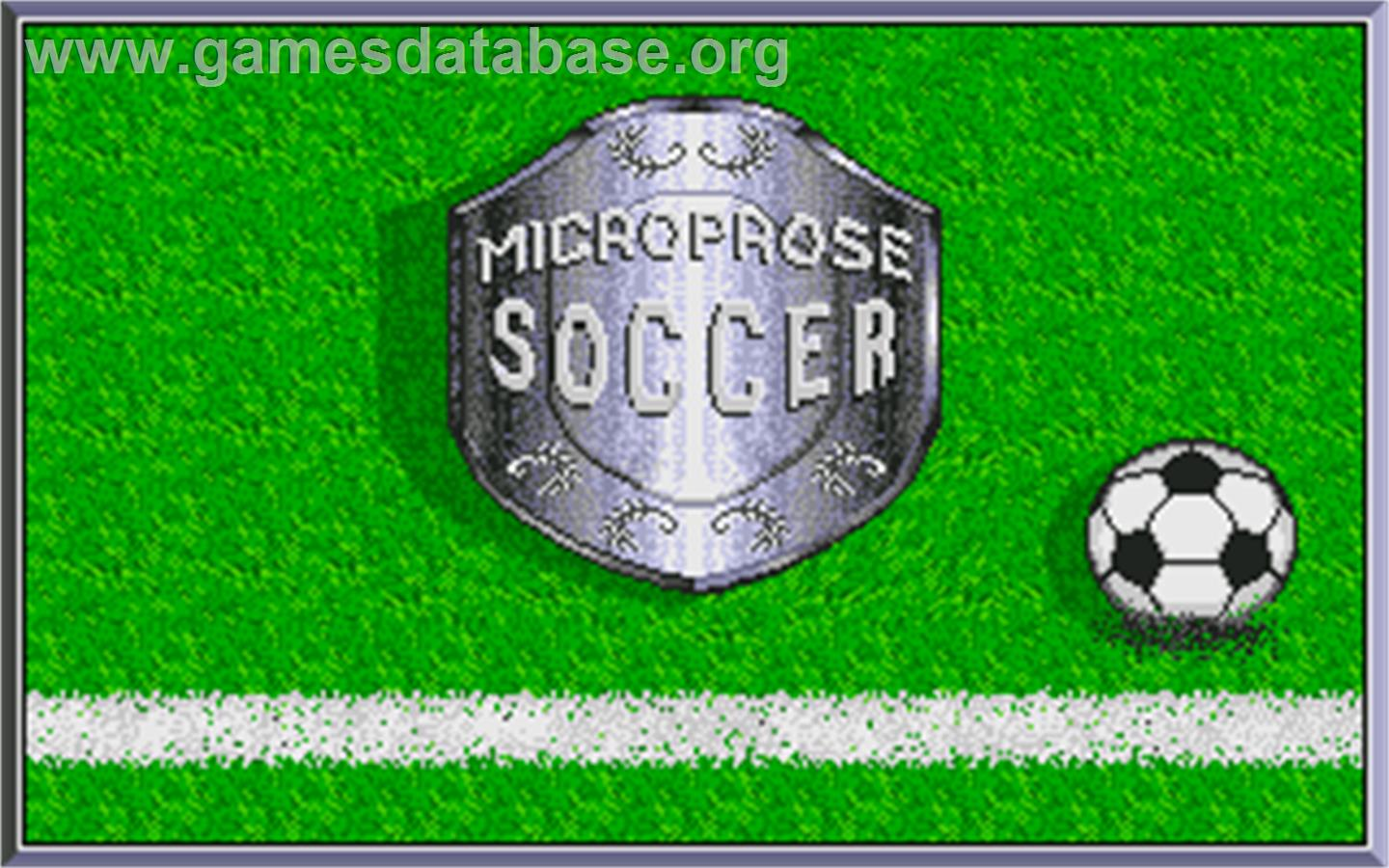Microprose Pro Soccer - Atari ST - Artwork - Title Screen
