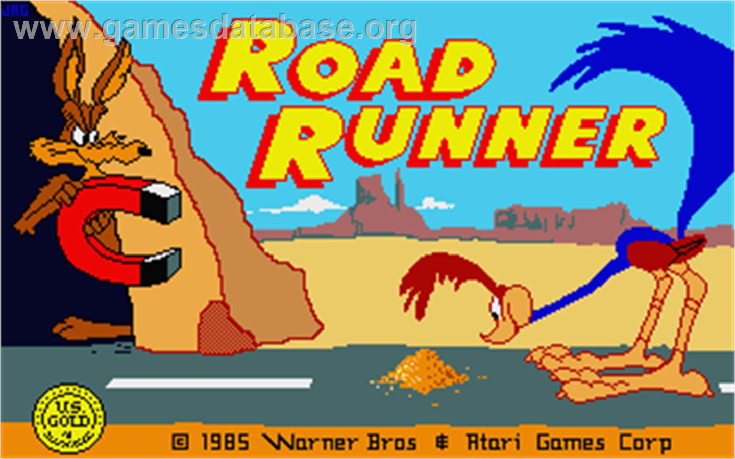 Title screen of road runner on the atari st