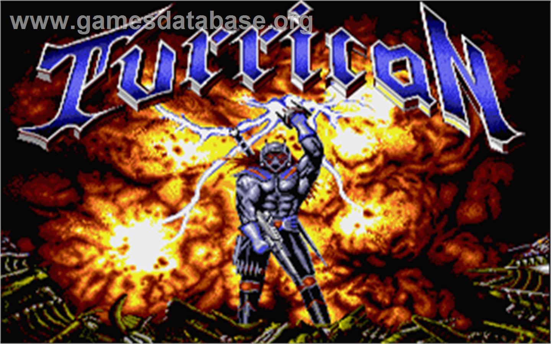Title screen of Turrican on the Atari ST.