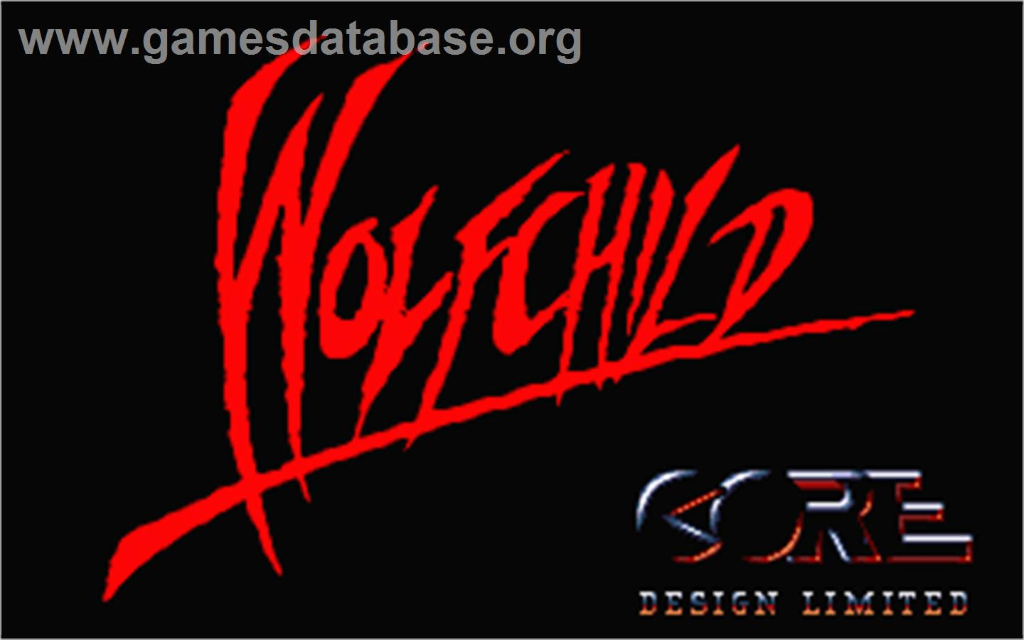 Title screen of Wolfchild on the Atari ST.