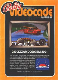 Box cover for 280zzap on the Bally Astrocade.