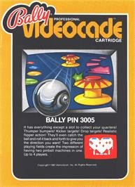 Box cover for Bally Pin on the Bally Astrocade.