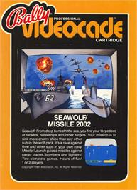 Box cover for Seawolf on the Bally Astrocade.