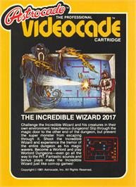 Box cover for Wizard of Wor on the Bally Astrocade.