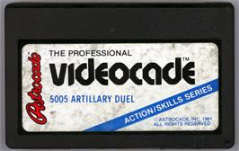 Cartridge artwork for Artillery Duel on the Bally Astrocade.